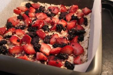 berry oat bars
