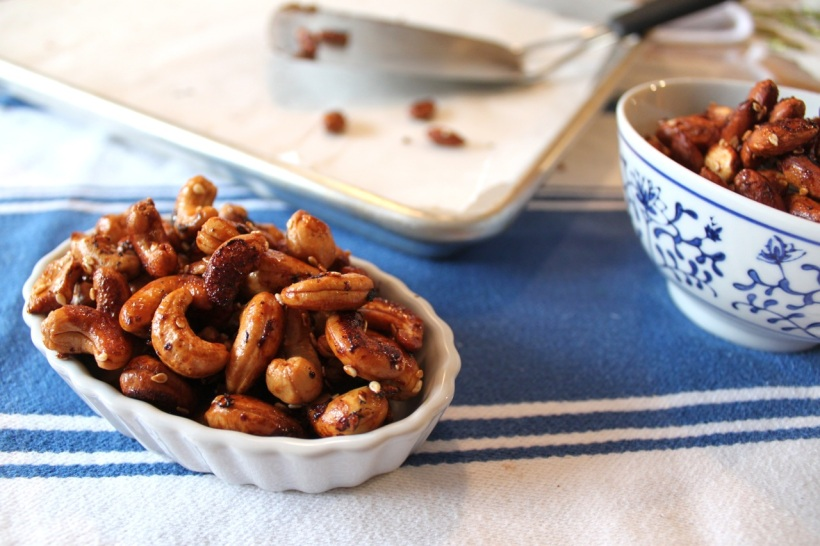 Maple-Soy Roasted Nuts | two coast kitchen