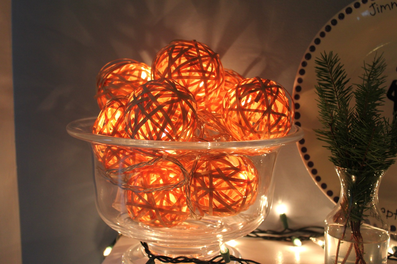 String Christmas Lights Together : DIY Holiday Decorations two coast kitchen