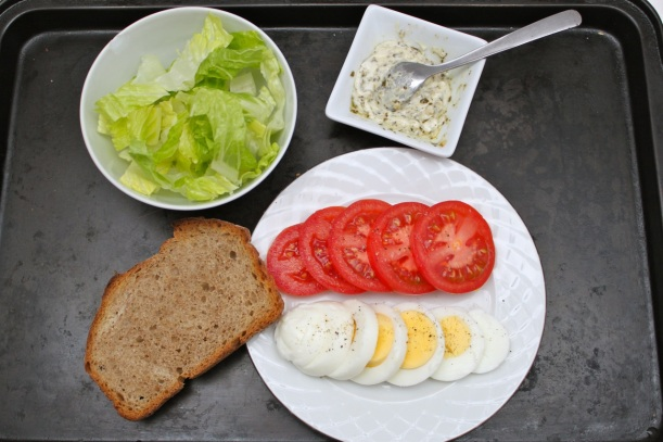 egg, lettuce, tomato sandwich | two coast kitchen